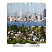 Seattle Skyline Shower Curtain