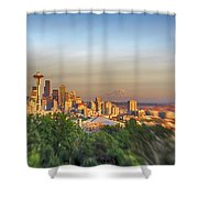 Seattle Skyline Lens Baby Hdr Shower Curtain