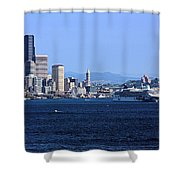 Seattle Skyscrapers Shower Curtain