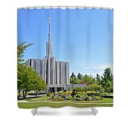 Seattle Temple - Horizontal Shower Curtain