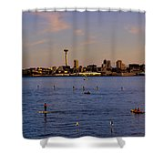 Seattle Waterfront 2 Shower Curtain