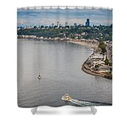 Seattle Waterfront 3 Shower Curtain