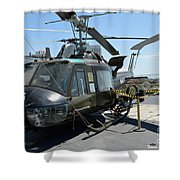Seawolves Uh-1 Shower Curtain
