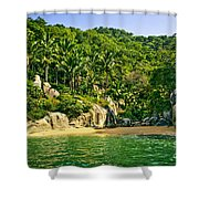 Secluded Beach Shower Curtain