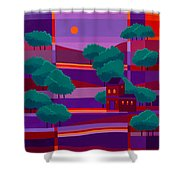 Secluded Villa Shower Curtain