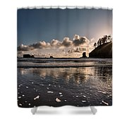 Second Beach Light And Current Shower Curtain