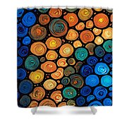 Second Chances - Abstract Art By Sharon Cummings Shower Curtain