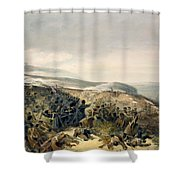 Second Charge Of The Guards Shower Curtain