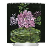 Second Hand Rose Shower Curtain