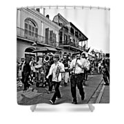 Second Line Parade Bw Shower Curtain