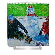 Second Snow Shower Curtain