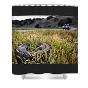 Second Thoughts Shower Curtain
