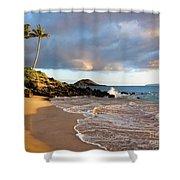 Secret Beach At Sunset Shower Curtain