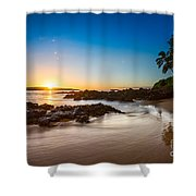 Secret Beach Sunset Shower Curtain