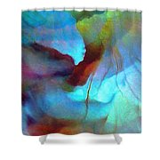 Secret Garden - Abstract Art Shower Curtain