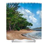 Secret Island Beach Shower Curtain