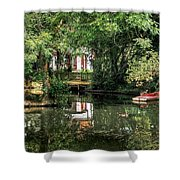 Secret Retreat - River Reflections Shower Curtain