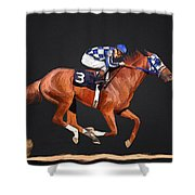 Secretariat And Turcotte Shower Curtain