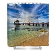 Secrets Aura Pier Shower Curtain