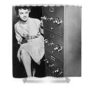 Secure Filing Cabinet Shower Curtain by Underwood Archives