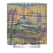 Secured Planes Shower Curtain