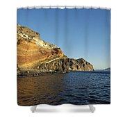 Sedimentary Layers San Esteban Island Shower Curtain