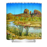 Sedona Arizona Shower Curtain by Jerome Stumphauzer