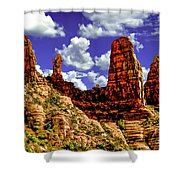 Sedona Arizona Red Rock Secret Mountain Wilderness Shower Curtain