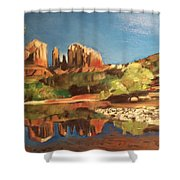 Sedona Cathedral Rock Shower Curtain