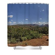 Sedona Panorama In 5 Pictures Shower Curtain