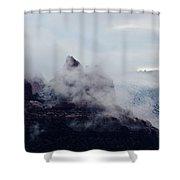 Sedona Rocks In Clouds 030315a Shower Curtain
