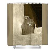 Sedona Series - Jug In Sepia Shower Curtain