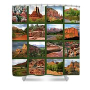 Sedona Spring Collage Shower Curtain