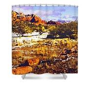 Sedona Winter Painting Shower Curtain