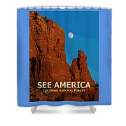 See America - Coconino National Forest Shower Curtain