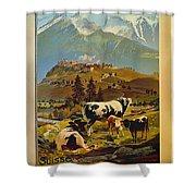 See Switzerland 1906 Shower Curtain
