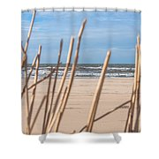 See Through On The Dutch Beach Shower Curtain