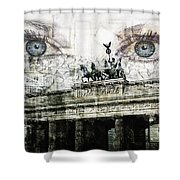 see you in Berlin Shower Curtain