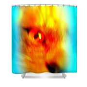 See You With My Cat Eye And You Are Looking Back Shower Curtain