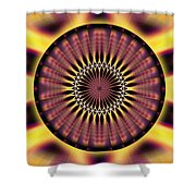 Seed Of Life Kaleidoscope Shower Curtain