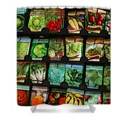 Seed Packets Shower Curtain