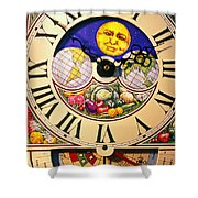 Seed Planting Clock Shower Curtain