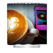 Seeing Double Latte Shower Curtain