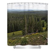 Seeing Forever - Yellowstone Shower Curtain