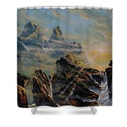 Seeing The Face Of God Shower Curtain