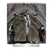 Seeon Abbey Church Detail Shower Curtain