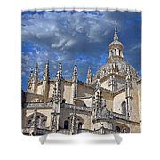 Segovia Gothic Cathedral Shower Curtain by Ivy Ho