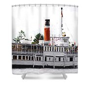 Segwun Steamboat - Painterly Shower Curtain