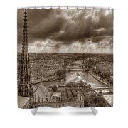 Seine From Notre Dame Shower Curtain
