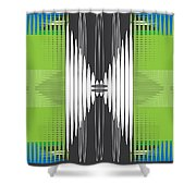 Seismic Rug Shower Curtain